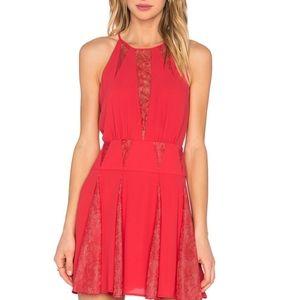 BCBG lipstick red dress